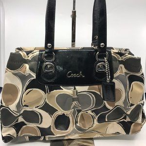 COACH Large Multicolor Fabric Shoulder Bag